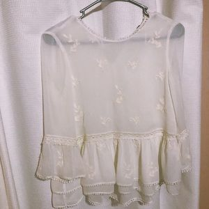 zara blouse NWOT